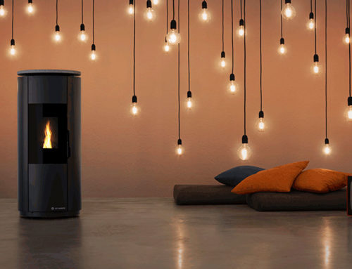 Pellet stoves and decoration with fireplaces
